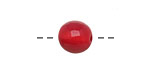 Tagua Nut Red Round 11-12mm