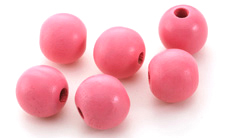 Pink Grapefruit Wood Round 20mm