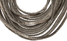 """The Lipstick Ranch Antique Bronze Shredded Leather Choker 17 1/4"""" x 2"""""""