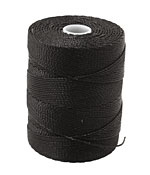 C-Lon Black Fine Weight (.4mm) Bead Cord
