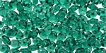 Emerald SuperDuo 2x5mm Seed Bead