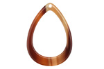 Zola Elements Brown Sugar Acetate Open Drop Focal 22x31mm