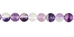 Purple Fluorite Round 6mm