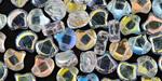 Crystal AB Matubo Ginkgo Leaf 7.5mm Seed Bead