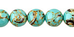 Sea Green Mosaic Shell Round 12mm