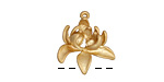 Zola Elements Matte Gold (plated) Bloom Charm 19mm
