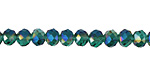 Emerald AB Crystal Faceted Rondelle 6mm