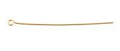 """Gold (plated) Eye Pin 2"""", 22 gauge"""