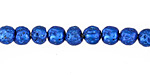 Metallic Electric Blue (plated) Lava Rock Round 6mm