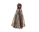 Burgundy Mix w/ Metallic Gold Thread Tassel 30mm
