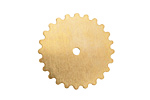 Brass Large Closed Gear 25mm