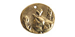Nunn Design Antique Gold (plated) Shenandoah Charm 25x23mm