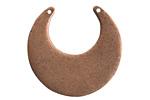 Nunn Design Antique Copper (plated) Flat Eclipse Tag 31x31mm