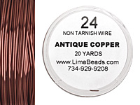 Parawire Antique Copper 24 gauge, 20 yards