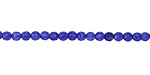 Sapphire Blue Agate Faceted Round 3mm