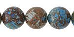 Blue Calsilica Jasper Round 16mm