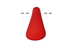Cherry Red Recycled Glass Side Drilled Freeform Drop 10-15x21-28mm