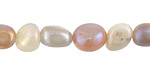 Peach Moonstone w/ AB Luster Tumbled Nugget 5-10mm
