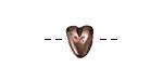 Greek Bronze (plated) Heart Bead 10x11mm