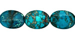 Teal Impression Jasper Flat Oval 20x15mm