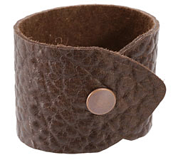 "The Lipstick Ranch Chocolate Hornback Bull Hide Cuff Bracelet 1 7/8"" x 9"""