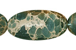 Blue Impression Jasper Flat Oval 40x20mm