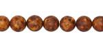 Tibetan (Dzi) Agate (rust) Matte Molten Pattern Round 8mm
