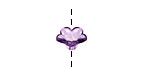 Lucite Transparent Amethyst 5 Petal Petunia Flower 7x11mm