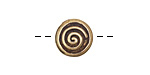 Saki Bronze Spiral Circled Button 13mm