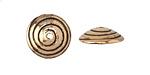 Saki Bronze Spiraling Bead Cap 15mm
