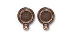 TierraCast Antique Copper (plated) Stepped Bezel Ear Post 12x17mm