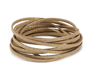Gold Metallic Microsuede Flat Cord 3mm