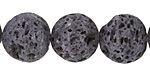 Lava Rock Unwaxed Round 16mm