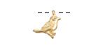 Gold Finish Little Bird Charm 13mm