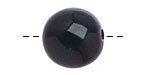 Tagua Nut Midnight Round 20mm