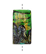 Grace Lampwork Herbal Garden Shimmer Kalera 26-27x38-39mm