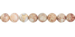 White Impression Jasper (matte) Round 6mm