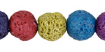 Rainbow Lava Rock Unwaxed Round 14-15mm