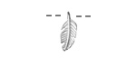 Sterling Silver Small Feather Pendant 6x15mm