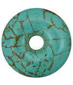 Turquoise Magnesite w/ Matrix Donut 50mm
