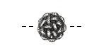 Pewter Knotted Button 15mm