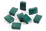 Emerald Enamel 2-Hole Tile Rectangle Bead 12x8mm