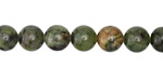 Dendritic Green Jade Round 8mm