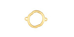 Satin Gold Finish Organic Circle Link 15x10mm