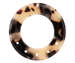 Zola Elements Light Tortoise Shell Acetate Donut Chandelier 27mm