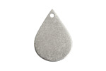 Nunn Design Antique Silver (plated) Flat Teardrop Tag 18x24mm