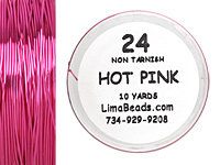 Parawire Hot Pink 24 Gauge, 10 Yards