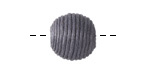 Graphite Thread Wrapped Bead 14mm