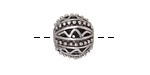 Antique Silver (plated) Openwork Dotted Zig Zag Round 14mm