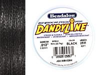 DandyLine Black .3mm Thread, 25 meters